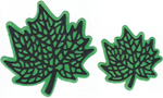 LARGE AND MEDIUM MAPLE LEAVES WITH SHADOWS
