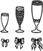 BANQUET GLASSES AND RIBBONS