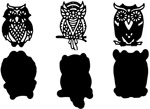 3 OWLS WITH SHADOW