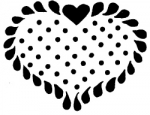 FEATHERED HEART WITH DOTS