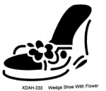 WEDGE SHOE WITH FLOWER