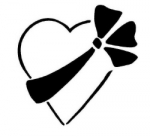 HEART W/TIED BOW