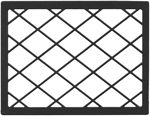 LARGE LATTICE FRAME